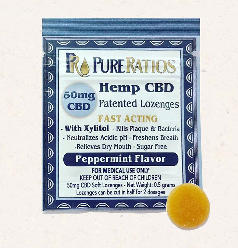 Pure Ratios CBD Lozenge Peppermint Flavored