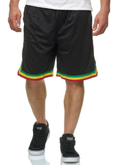 Rasta Striped Mesh Shorts