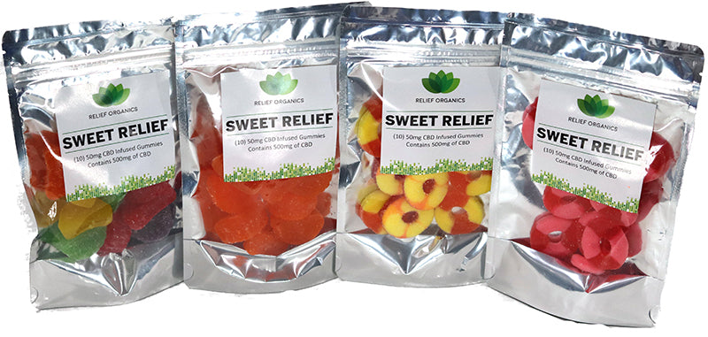 Relief Organics Sweet Relief Gummies 500mg