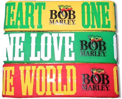 Rubber One Love Bob Marley Bracelet Set