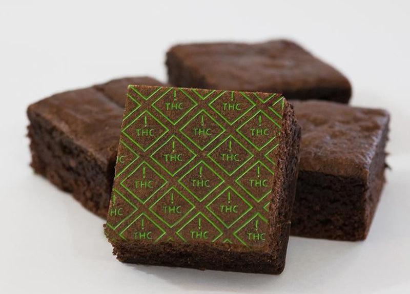 THC edibles brownies, image from Baked Smart on Instagram