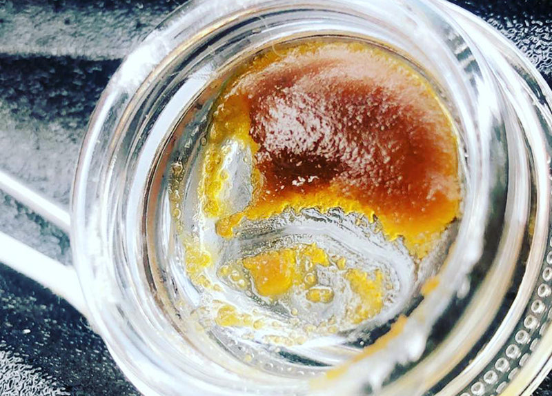 Wax marijuana dabs in a glass resealable jar, image from Airborne Medical on Instagram