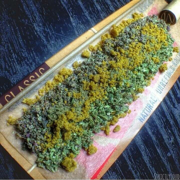 crumble weed marijuana joint