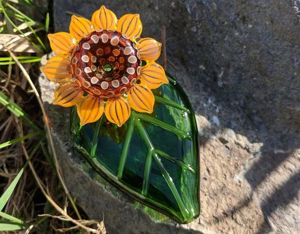 novelty smoke pipe sunflower