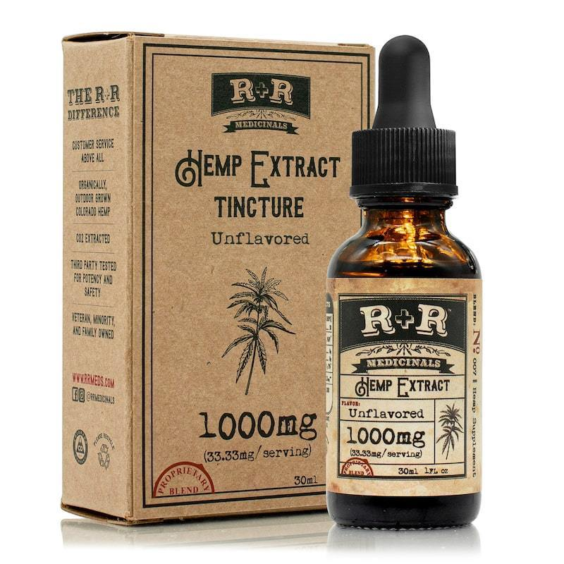 R+R Medicinals - Tincture Unflavoured - 1000mg