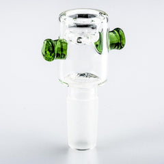 14mm Male Bong Bowl With Green Handles