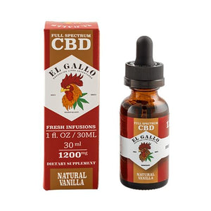 El Gallo - CBD Tincture - Natural Vanilla - 300mg-1500mg