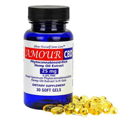 AmourCBD - CBD Soft Gel 30 Count - 25mg