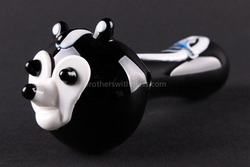 Chameleon Glass Heady Hand Pipe - Pepe The Skunk