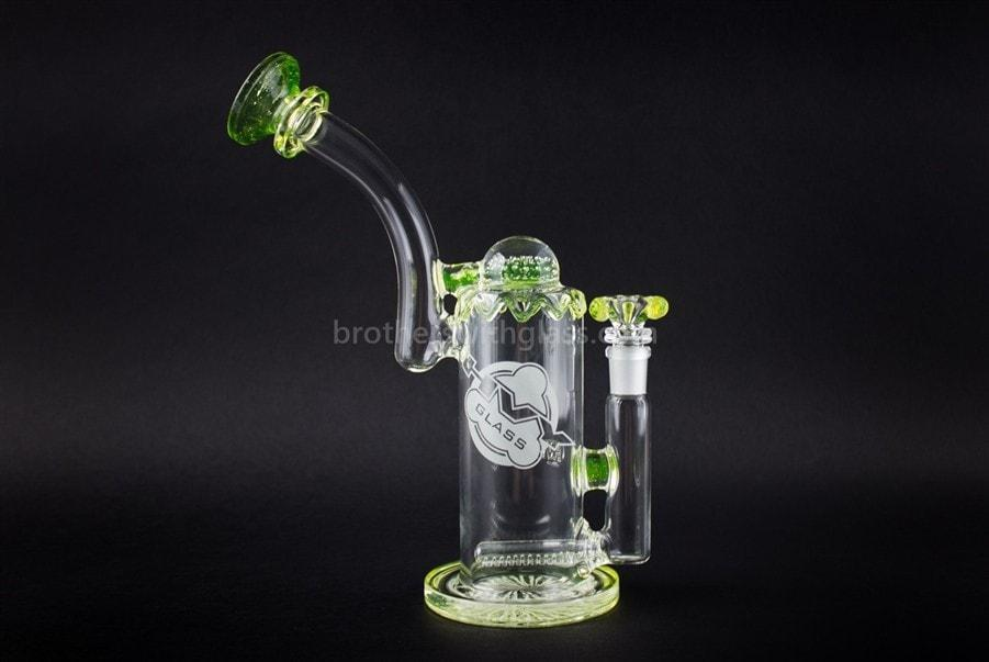 Glass pipes HVY Glass Heady Illuminati UV Reactive Inline Bubbler Water Pipe