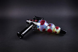 Hand pipe Mathematix Glass Steamroller Fumed Ray Gun Hand Pipe