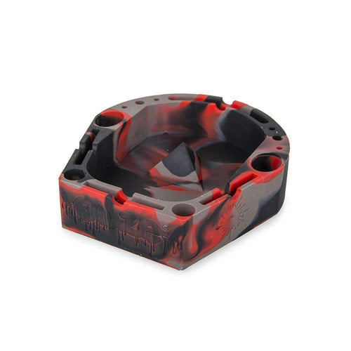 Ashtray Ooze Banger Tray - Black / Red / Grey