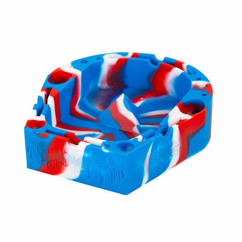 Ashtray Ooze Banger Tray - Red/White/Blue