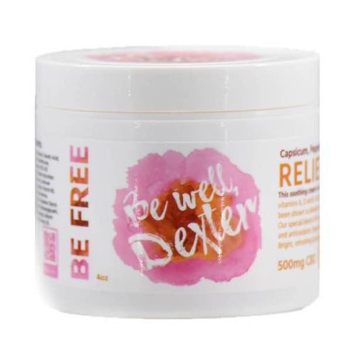 Be Well Dexter - CBD Topical - Relief Cream - 500mg