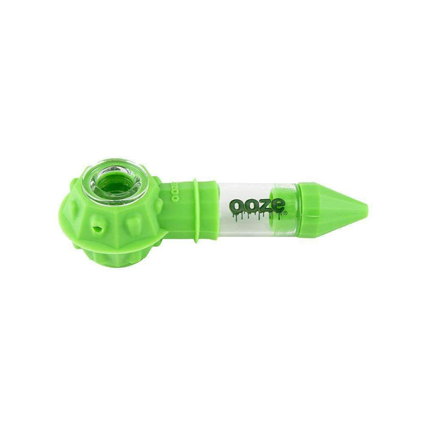 Ooze Bowser Silicone Glass Pipe - Neon Green