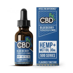 CBDfx - CBD Tincture Oil - Blueberry Pineapple Lemon - 500mg-1000mg