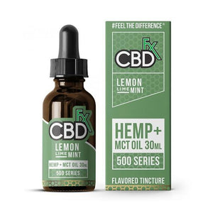 CBD Tinctures CBDfx - CBD Tincture Oil - Lemon Lime Mint - 500mg-1500mg