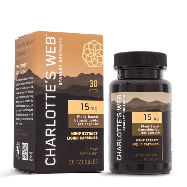 Charlottes Web - CBD Capsules - Full Spectrum Hemp Extract - 15mg
