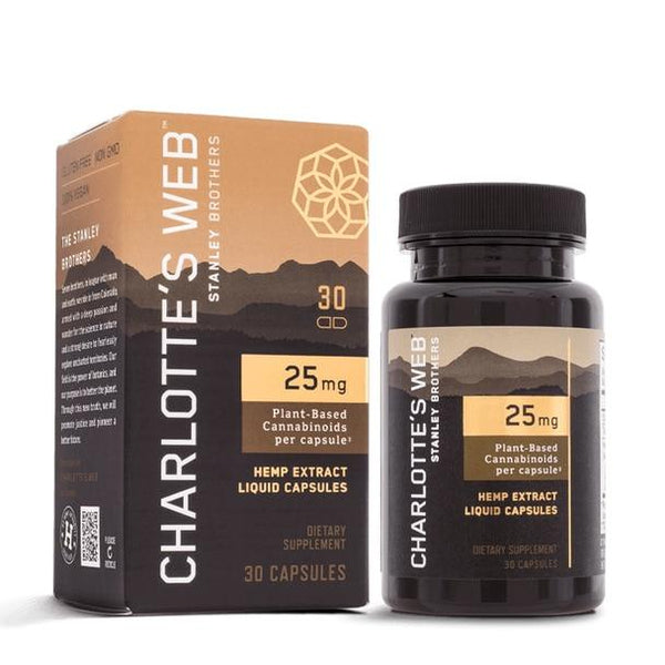 Charlottes Web - CBD Capsules - Full Spectrum Hemp Extract - 25mg