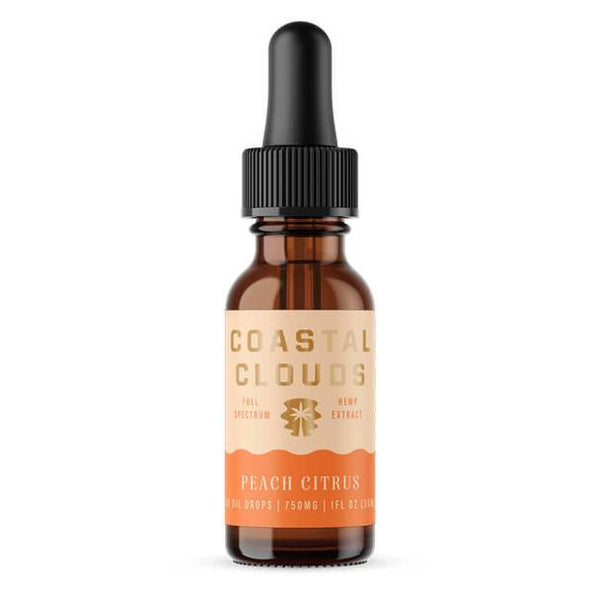 Coastal Clouds - CBD Tincture - Full Spectrum Peach Citrus - 750mg-1500mg
