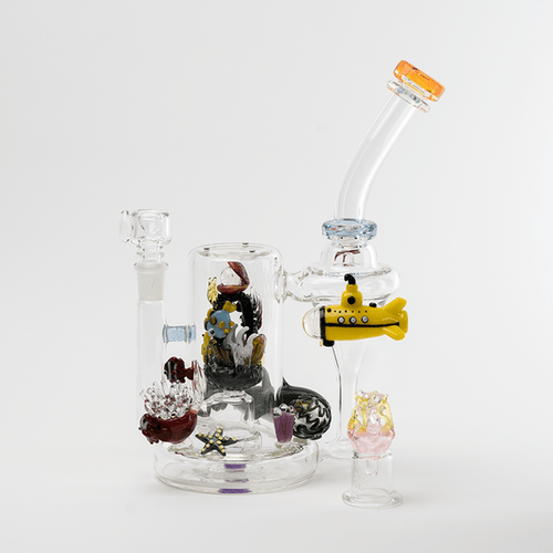 Bongs Recycler Illuminora Aquatics with Self Illuminating Puck Attachment