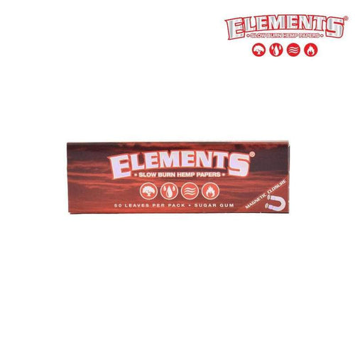 Rolling Papers ELEMENTS Red 1 1/4, Ultra Thin Rice Rolling Papers