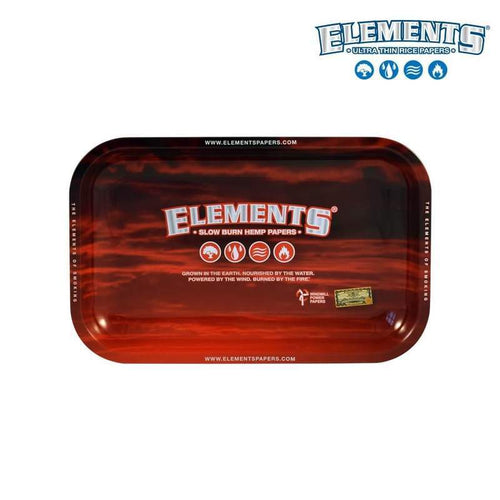 Special offer ELEMENTS Red Metal Rolling Tray