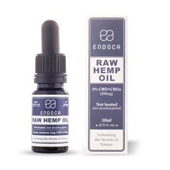 Endoca Raw Hemp Oil Drops - 300MG & 1,500MG CBD + CBDa