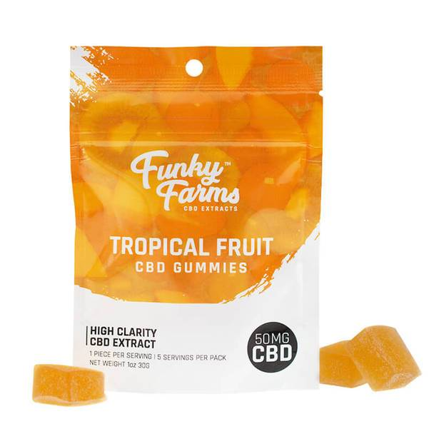 CBD Edibles Funky Farms - CBD Gummies - Tropical Fruit - 50mg
