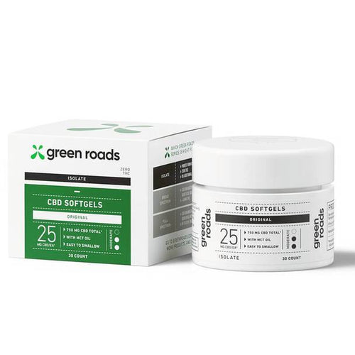 Green Roads - CBD Capsules - Isolate Original Caps - 25mg
