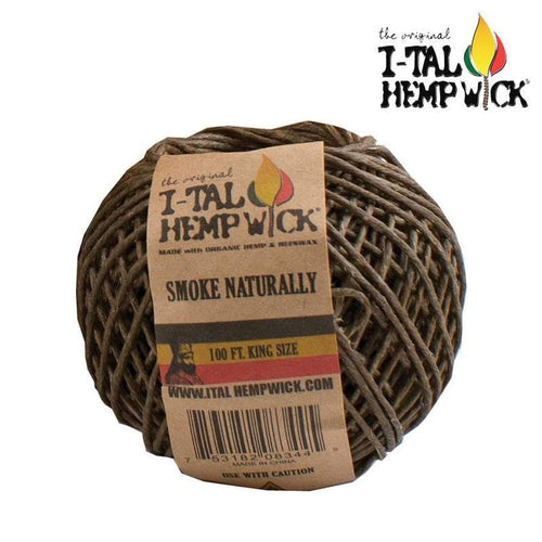 Hemp Hemp Wick Ball I-TAL 100 FT. King Size