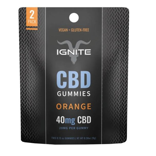 Ignite CBD - CBD Edible - Isolate Gummies Orange - 20mg