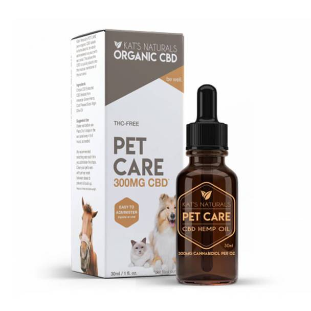 Kat's Naturals - CBD Pet Tincture - Pet Care - 150mg-300mg