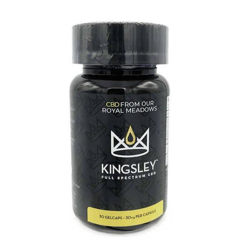 CBD Capsules Kingsley - CBD Soft Gels - Full Spectrum Gelcaps 30 Count - 900mg