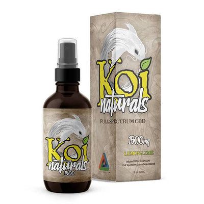 Koi CBD - CBD Tincture Spray - Full Spectrum Lemon-Lime - 1500mg-3000mg