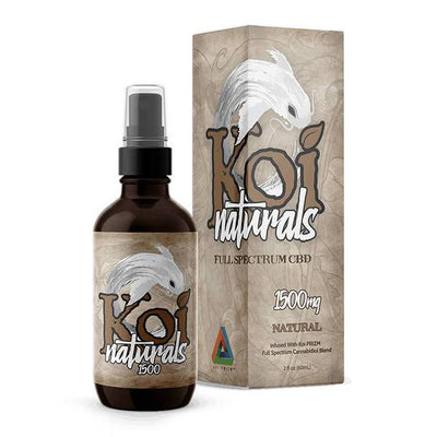 Koi CBD - CBD Tincture Spray - Full Spectrum Natural - 1500mg-3000mg