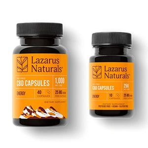 Lazarus Naturals - CBD Capsules - Isolate Energy Blend - 25mg