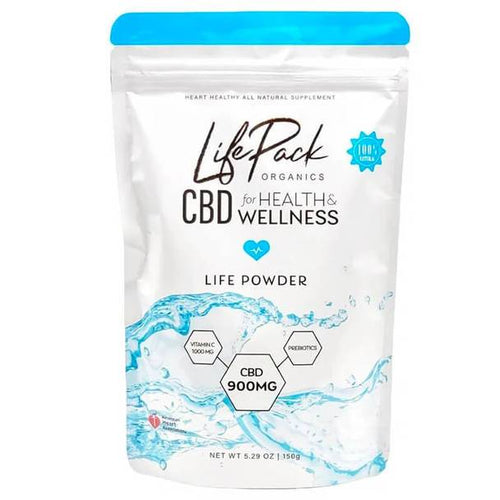 CBD Edibles Life Pack Organics - CBD Drink - 30 Day Life Powder - 900mg