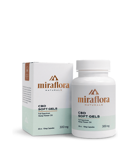 CBD Capsules Miraflora - full spectrum hemp oil cbd softgels