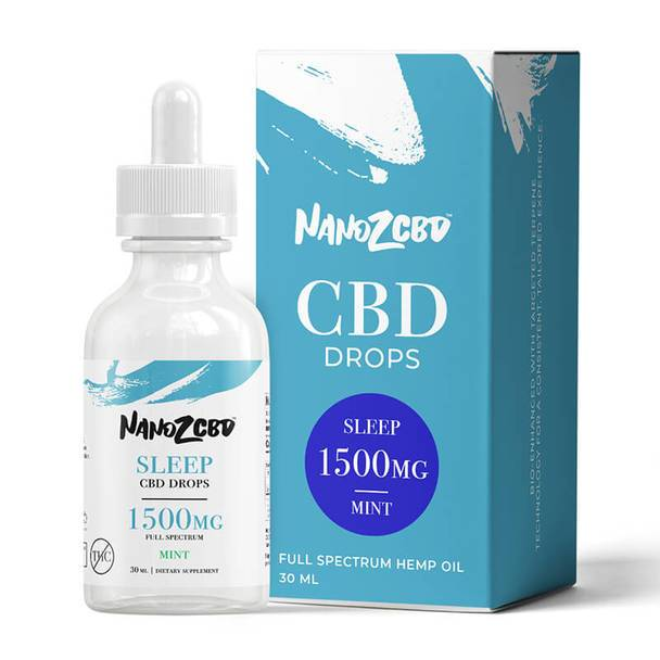 CBD Tinctures Nano Z CBD - CBD Tincture - Full Spectrum Mint Sleep Drops - 1500mg