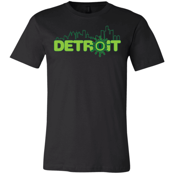 t-shirts Ooze Detroit Skyline Men's T- Shirt