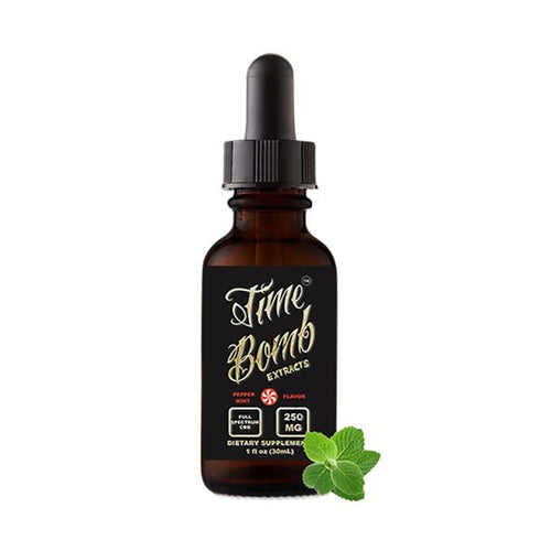 CBD Tinctures Time Bomb Extracts - CBD Tincture - Peppermint - 250mg-1000mg