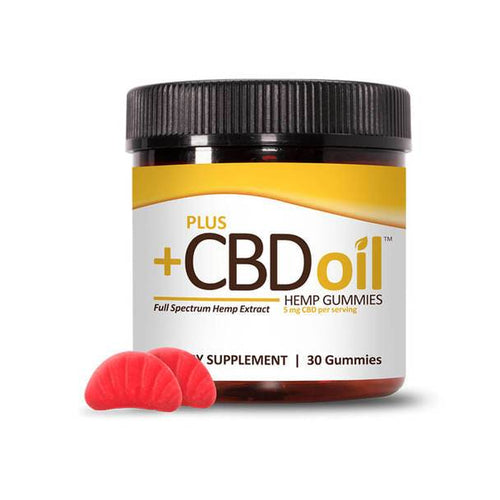 PlusCBD Oil - CBD Edible - Cherry Mango Gummies - 5mg
