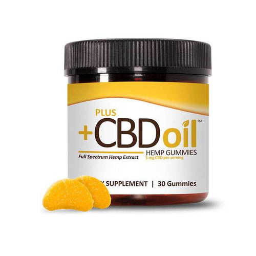PlusCBD Oil - CBD Edible - Citrus Peach Gummies - 5mg