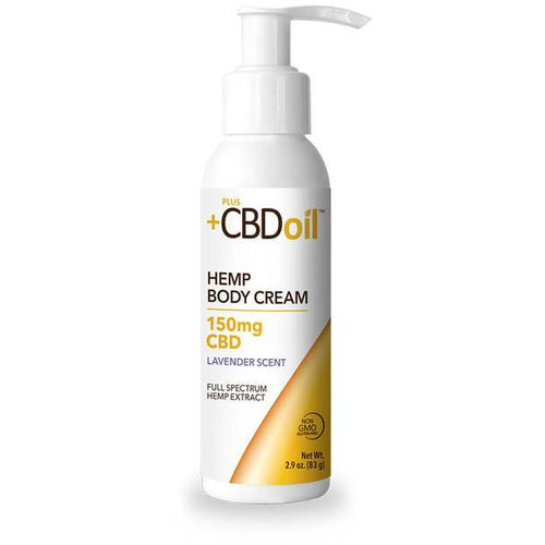 PlusCBD Oil - CBD Topical - Gold Body Cream Lavender - 150mg