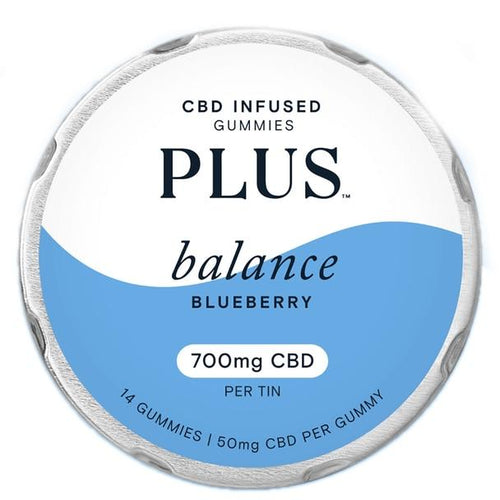CBD Edibles Plus CBD - CBD Edible - Balance Blueberry Gummies - 50mg