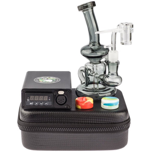 Bongs Quartz Enail W/ Grey Recycler Dab Rig Kit