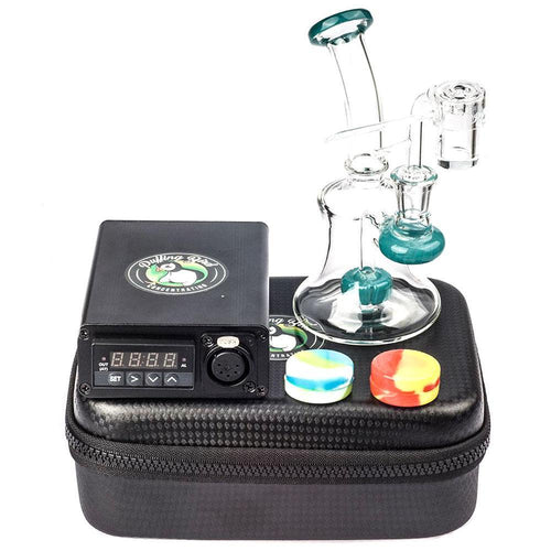 Bongs Quartz Enail W/ Mini Showerhead Perc Dab Rig Bundle