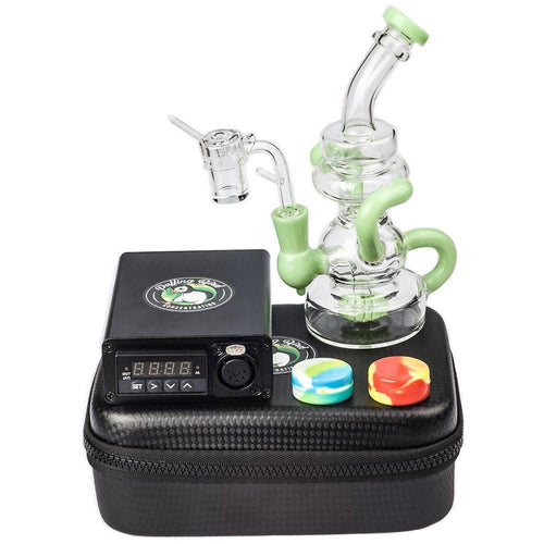 Bongs Quartz Enail W/ Recycler Showerhead Perc Dab Rig Bundle