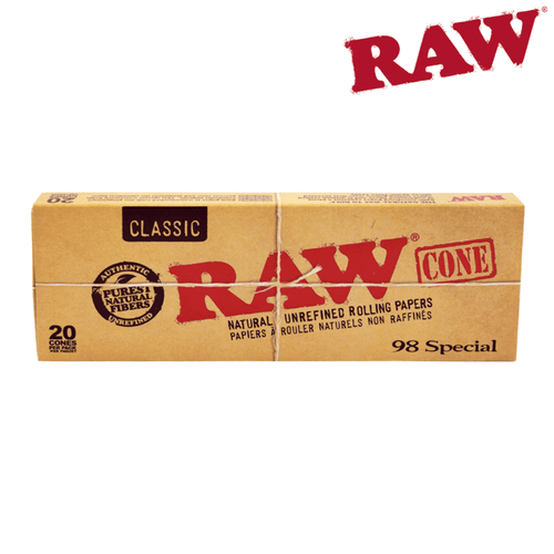 RAW 98 Special Pre-Rolled Cones With Filter Tips